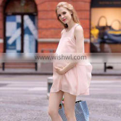 F10069A Summer new style maternity chiffon dress for pregnant women