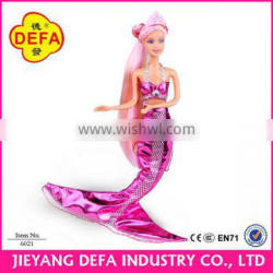 Defa Lucy mermaid pricess dolls colorful clothes for seletion