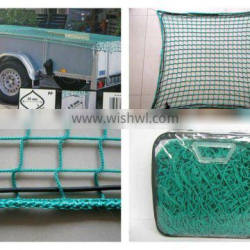 CE certified PET/PP knotless cargo net safety net for tractor trailer