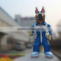 Interesting inflatable movable wolf mascot for advertising