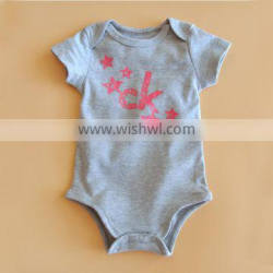 most natural colored cotton fashionable style grey offset printed infant clothes kids baby boys