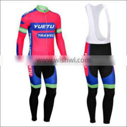 Men team specialized long sleeve cycling jersey and pants set