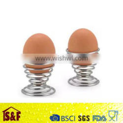 Creative egg cup tools stainless steel egg tray carrier seat egg holder contains kitchen tools