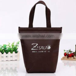 chocolate color cooler bag for food