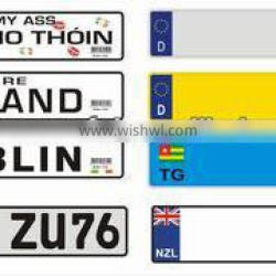 Luxembourg car license plates