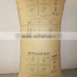 Economical high strength inflatable container dunnage bag