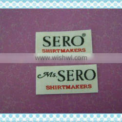 2012 the newest and the most white woven clothing labels