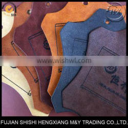 Hot Stamping Pattern PU Synthetic Leather,Customized Leather For Patch,Badge