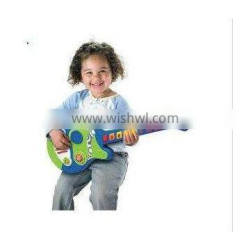 Newest Kids Funny Plastic Music guitar toy Instrument guitar toy for kids from dongguan ICTI factory