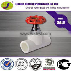 PERT pipe fittings fusion plastic stop valve for underfloor heating system