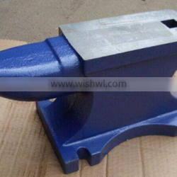 Heavy duty bench vise clamp and casting iron anvil