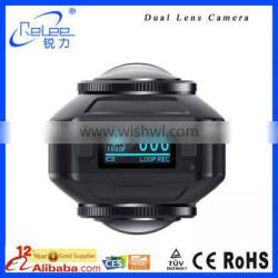 AT-V7 New arrival Go Pro Style dual lens panoview 360 degree all viewer sport action camera