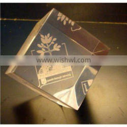 clear acrylic paper weight