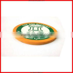Round cute shape anti-heated cup coaster&cup mats&PVC cup trivet mat for promotional items