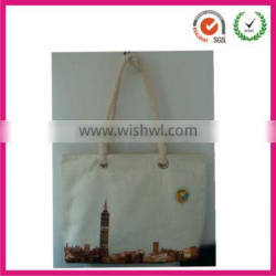 2013 eco-friendly natural fancy cotton canvas shopping bag (factory)