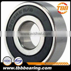 RUBBER SEALED BALL BEARING 6203-10 2RS 6203-5/8-2rs