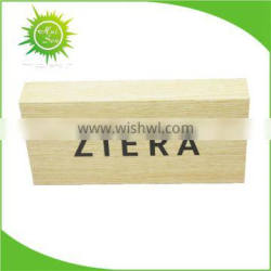 Wooden Logo Block Sign for Display