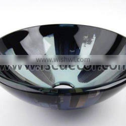 Round Paint Double Layer Glass Bathroom Sinks