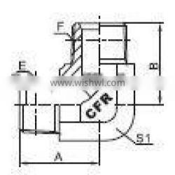 BSPT Elbow MALE hydraulic pipe fittings
