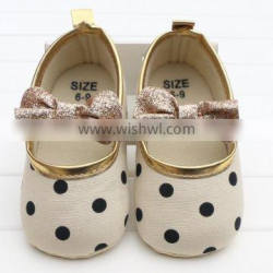 Hot sale cute bow dress baby shoes