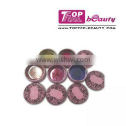 Tin package POUT POLISH lipbalm with flower in side