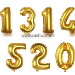 16 '' number balloons Golden Wedding &Party DecoratIon Foil Balloon