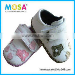 Wholesale Soft Sole Anti-Slip Breathale Toddler Leather Shoes