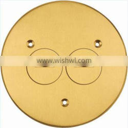 UL listed brass recessed floor round boxes and covers