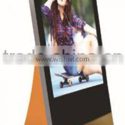 42 inch full hd media player_LCD Display with Shoes Polisher transparent led advertising displayer