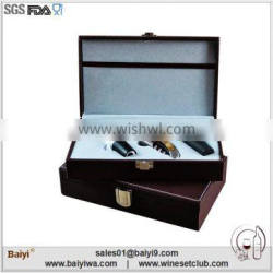 Fashion wedding souvenirs bottle opener with leather box package