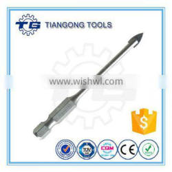 High quality hex shank glass drill