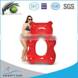 Animal Inflatable Swimming Seat inflatable swimming float in bear shape Water Sport Swiming Ring