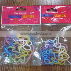Silicone rubber band in animal shape