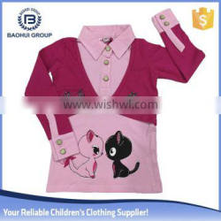 Chinese wholesaler ready made garments manufacturers girl t shirt