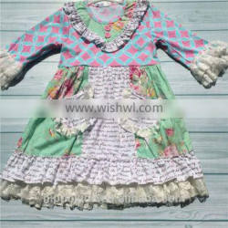 Professional made many colors delicate baby girl party dress