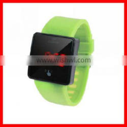 New style touch screen custom fancy digital watch with stainless steel back