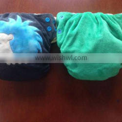 2014 Fashionable Water Proof Minky Cloth Solid Baby Diaper