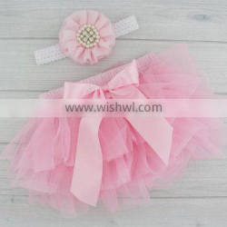 Boutique girls clothing icing shorts bloomers plain pink chiffon baby kids girls bloomers