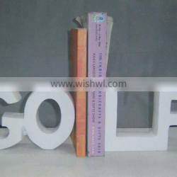 Aluminum Golf bookend, Library Bookend, Decorative Bookends