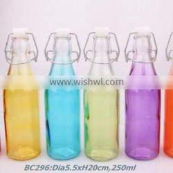 250ml glass milk bottle with sprayed color