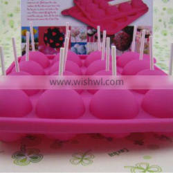2014 best selling 16 holes Silicone lollipop mold form