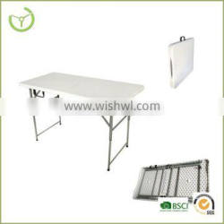 HDPE + steel tube plastic dining table for garden use/2015 new product