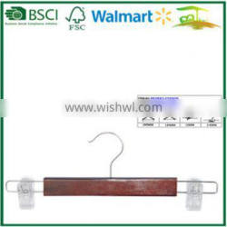 High quality wooden natural wood trousers hanger
