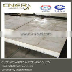 Wear composite liner with ceramic liner and stainless steel backing plate, industrial ceramic liner