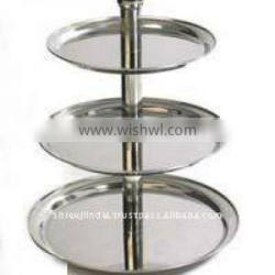 3 Tire Stainless Steel Cake Stand
