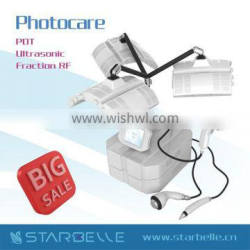 2014 New PDT LED Light Beauty Equipment With Ultrasound and Fractional RF