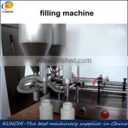 Filling machine for paste and liquid with filling speed can be adjusted