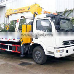 good price dongfeng tow truck with crane for sale