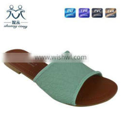 malaysia simple style hot sale summer autumn PU indoor flat slipper for women