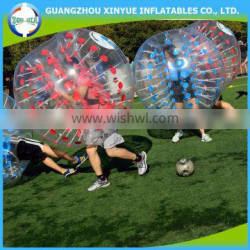 Popular plastic inflatable soccer bubble ball man suits